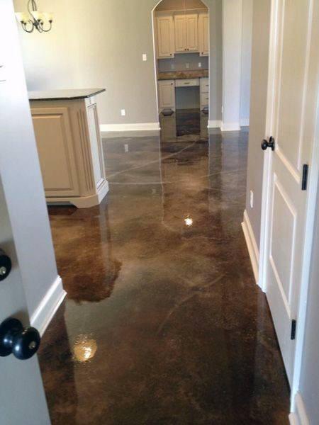 Copper Concrete Floor Ideas