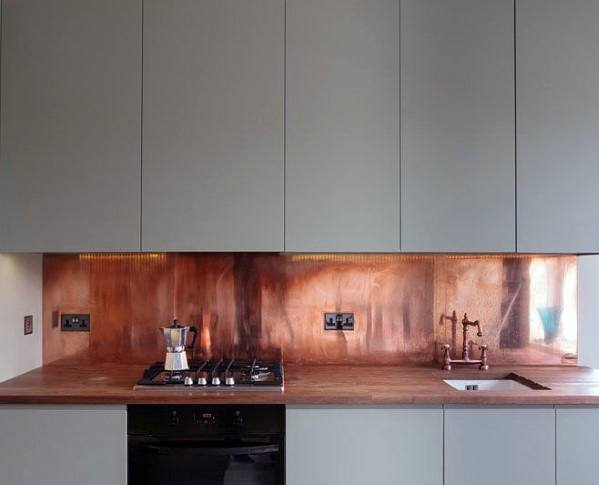 Copper Metal Backsplash Ideas