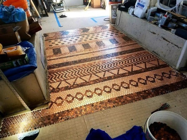 Copper Penny Floor Designs