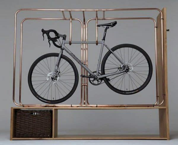 Copper Pipe Apartment Bicycle Storage