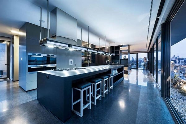 Coppin Penthouse Kitchen Interior Design