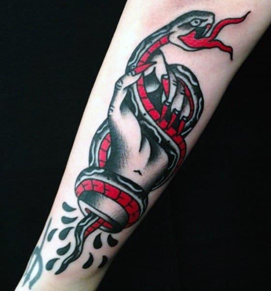Coral Snake Men's Tattoo
