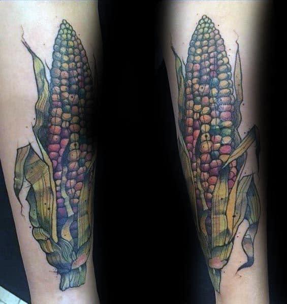 Corn Tattoos For Gentlemen