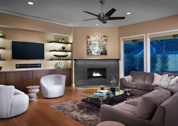 Corner Fireplace Design Idea Inspiration