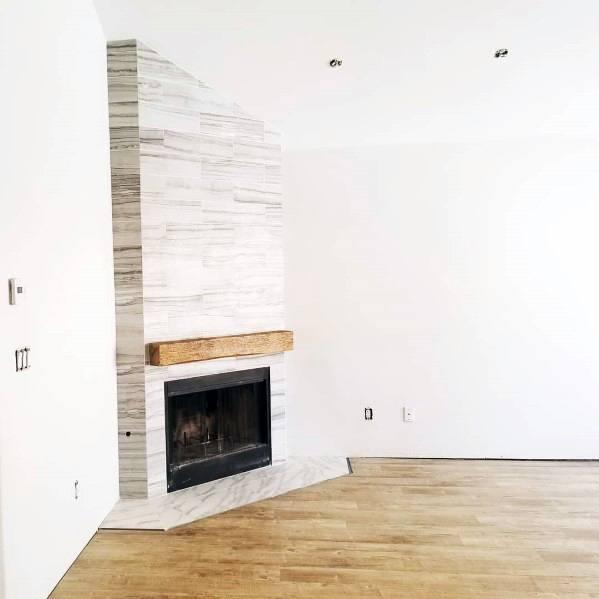Corner Fireplace Tile Designs