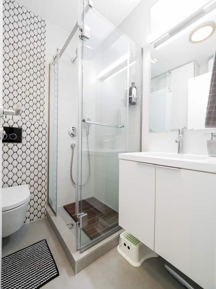 Corner Shower Toilet Sink 1