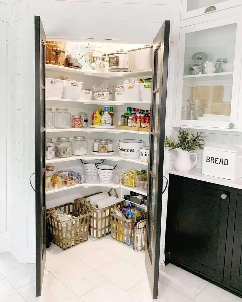 corner small pantry ideas leannepulliam