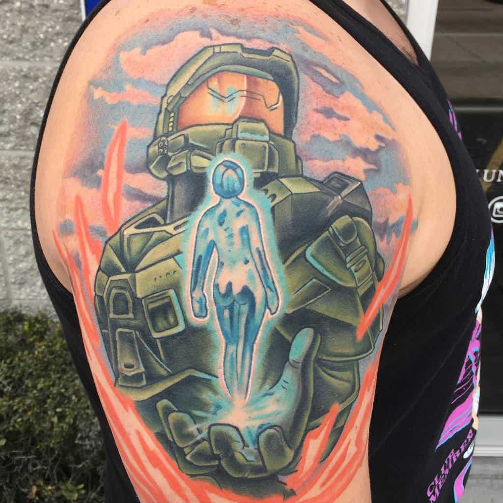 cortana-gamer-illustrative-master-chief-halo-tattoo-skylerjinxtattoos