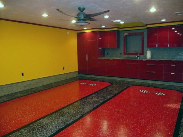 Garage Paint Ideas For Men on masculine flooring ideas