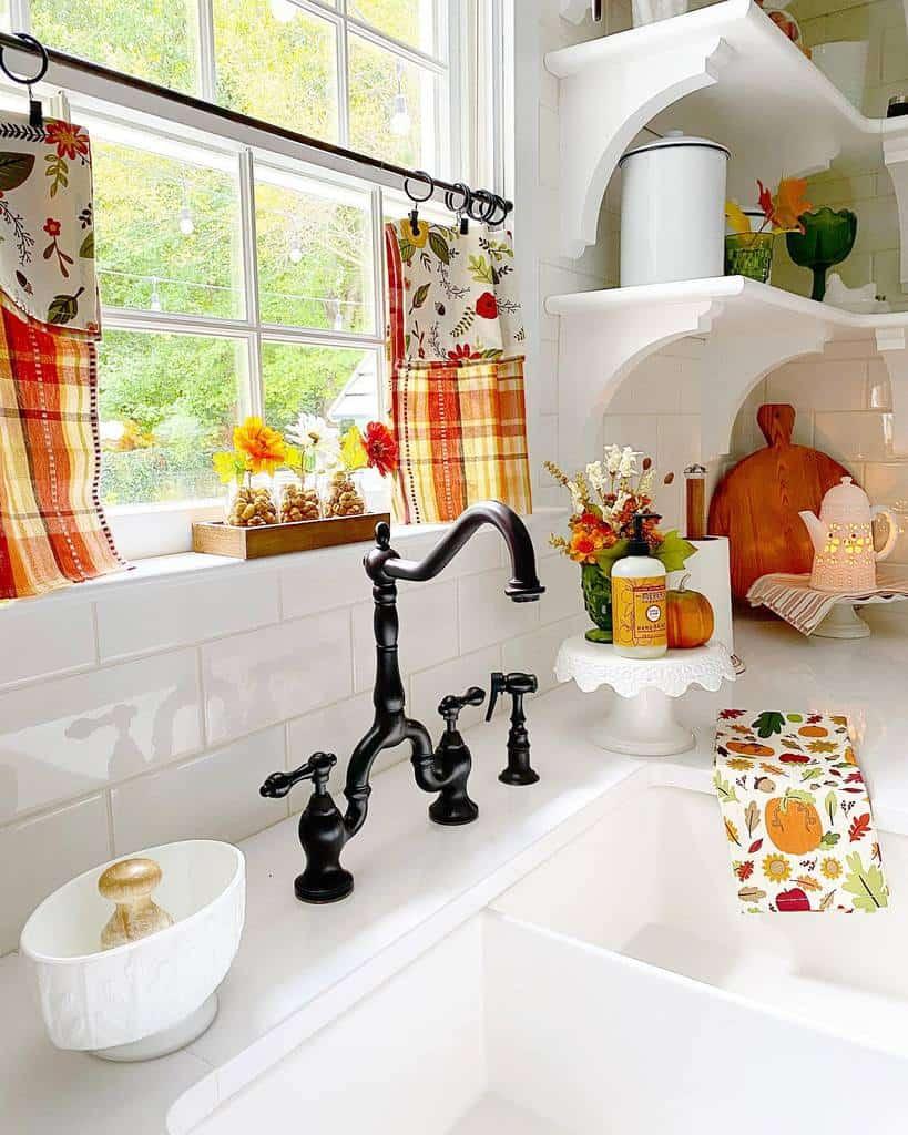 cottage kitchen curtain ideas kozycolonialhome