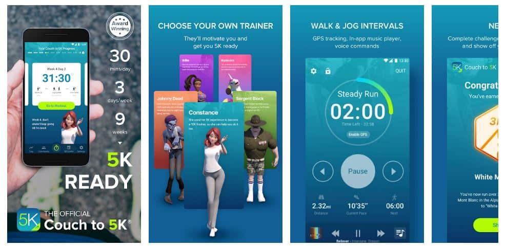 couch to 5k workout app android version screenshot