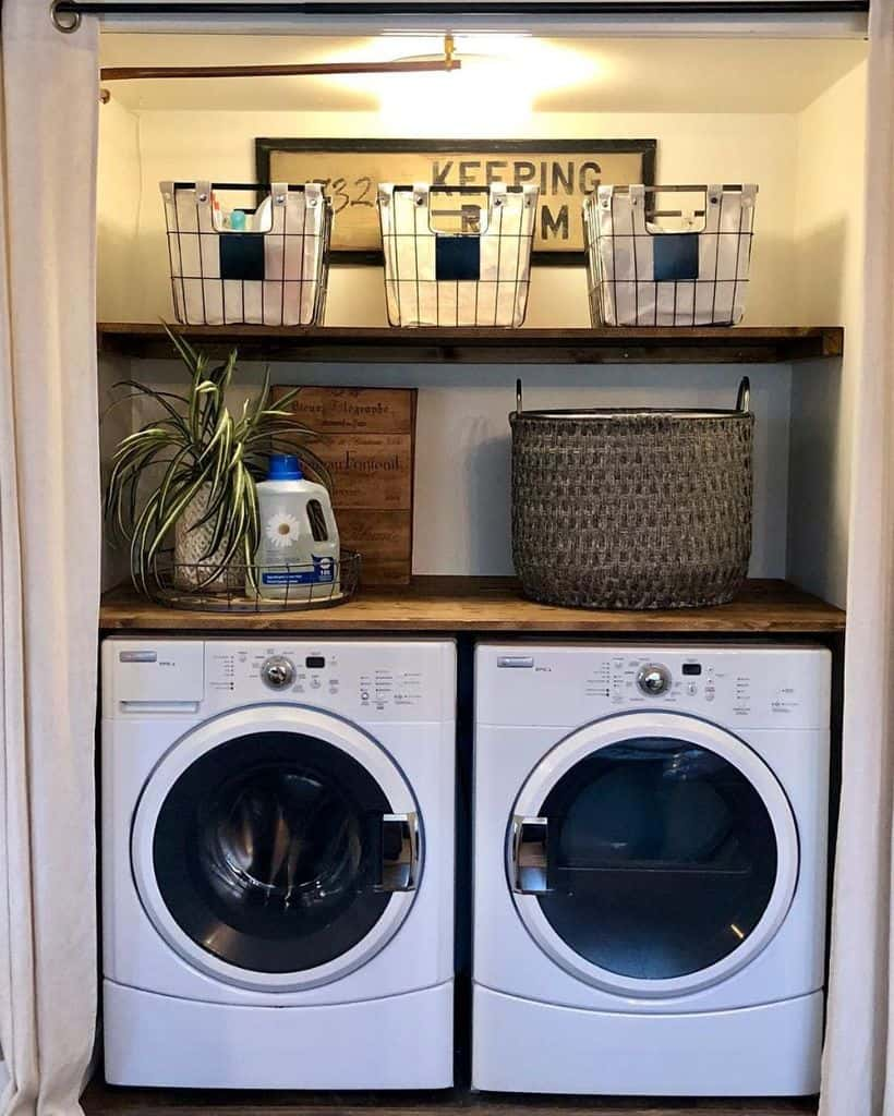 counter laundry closet ideas thepassionatehome