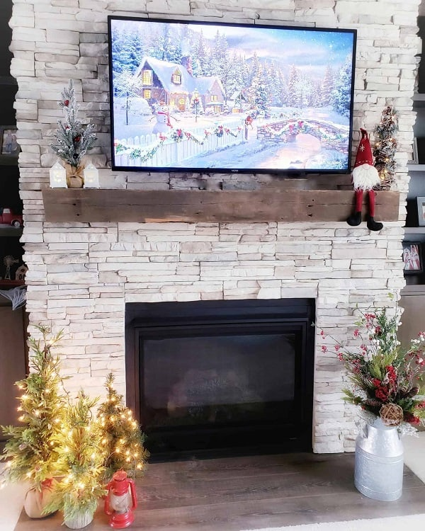 Country Living Stone Fireplace Surround Redbarninspiredfarmhouse