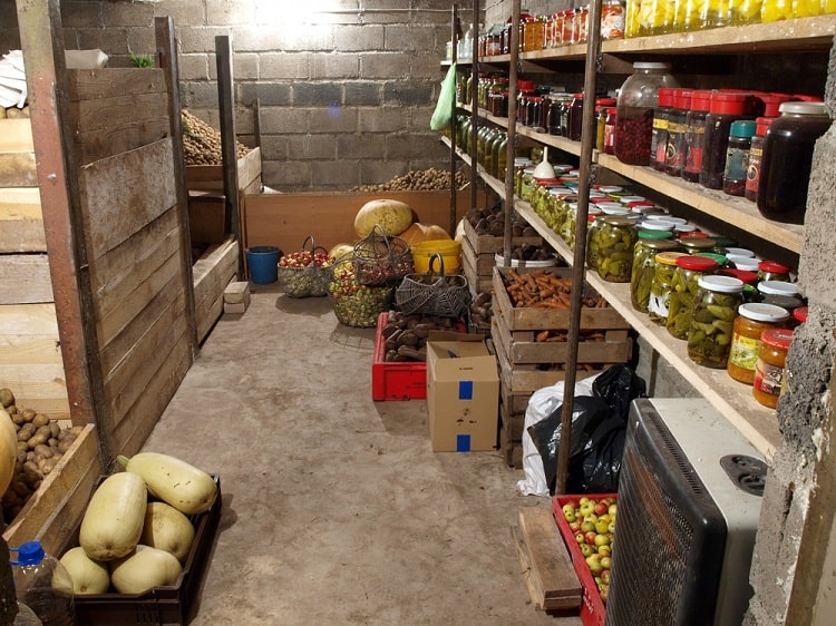 Country Style Basement Food Storage