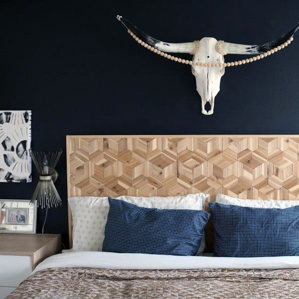 Country Style Headboard Ideas Wood Pattern