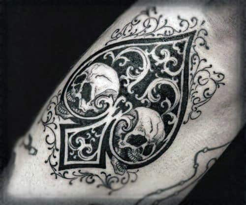 70 Spade Tattoo Designs For Men - One Of The Suits