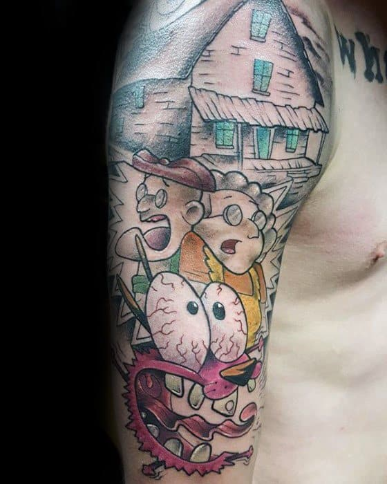 Courage The Cowardly Dog Guys Tattoos