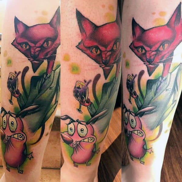 Courage The Cowardly Dog Tattoos For Gentlemen