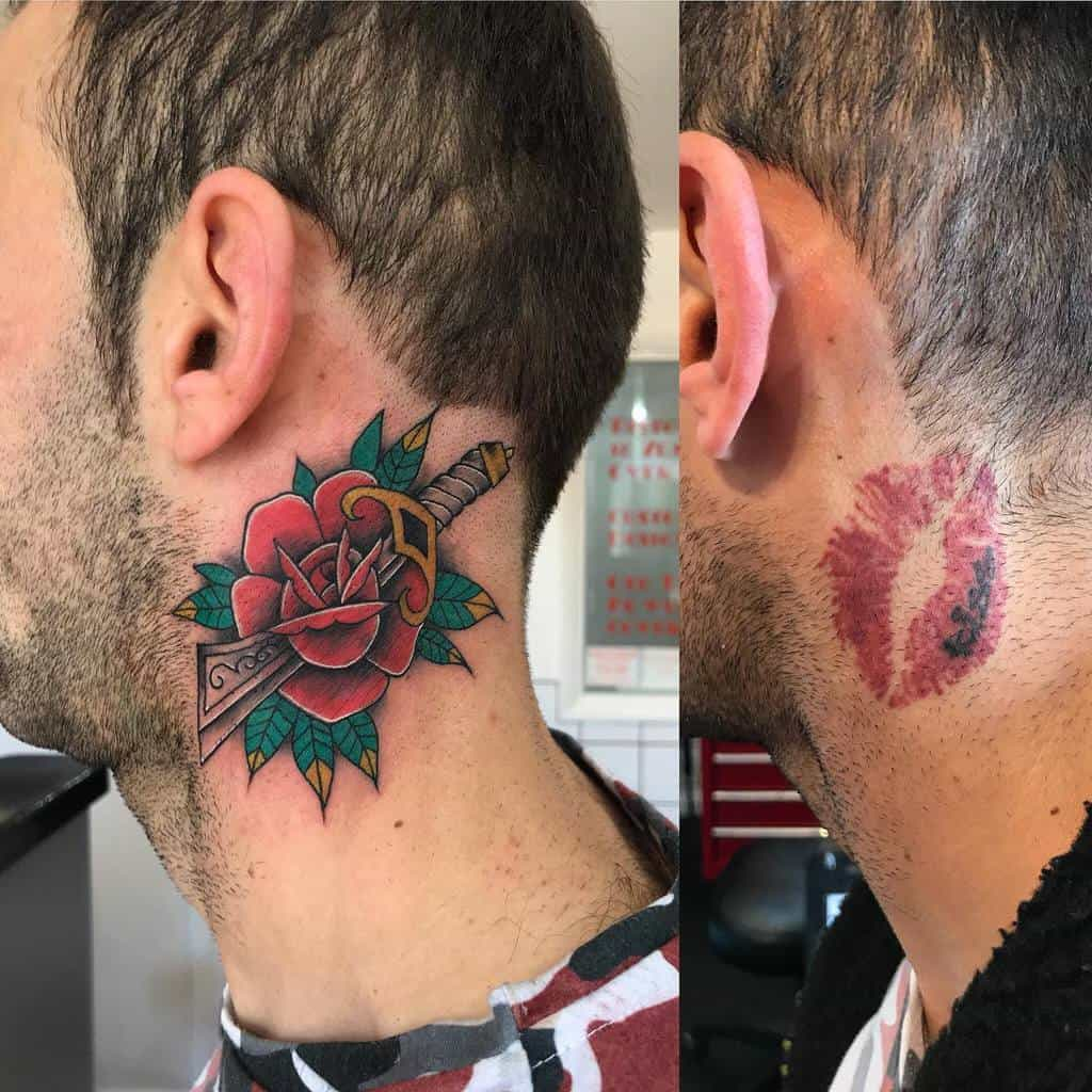 cover up rose and dagger tattoos martinberresford
