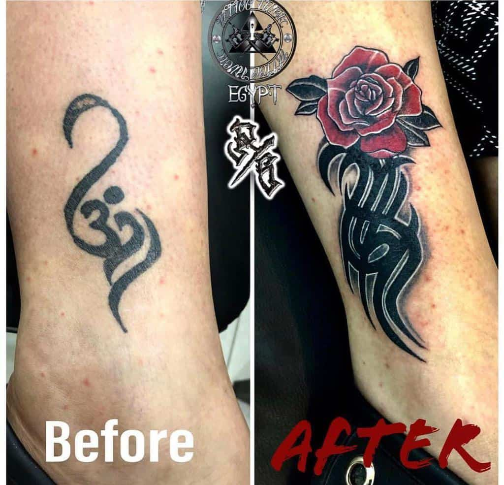 cover up tribal rose tattoos twontattoo