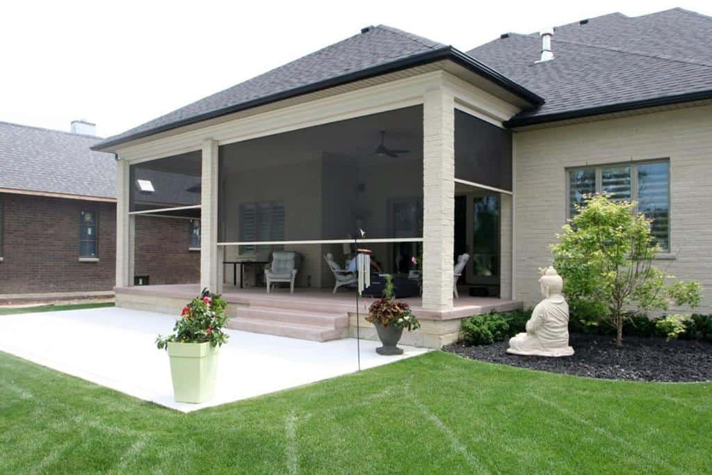 covered enclosed patio ideas shuttersshade