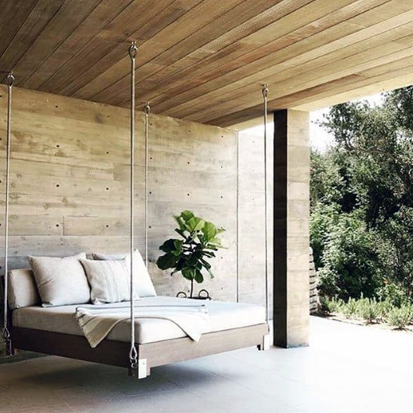 Covered Patio Amazing Modern Hanging Bed