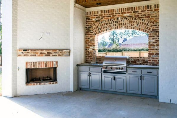 Covered Patio Ideas For Home Built In Grill