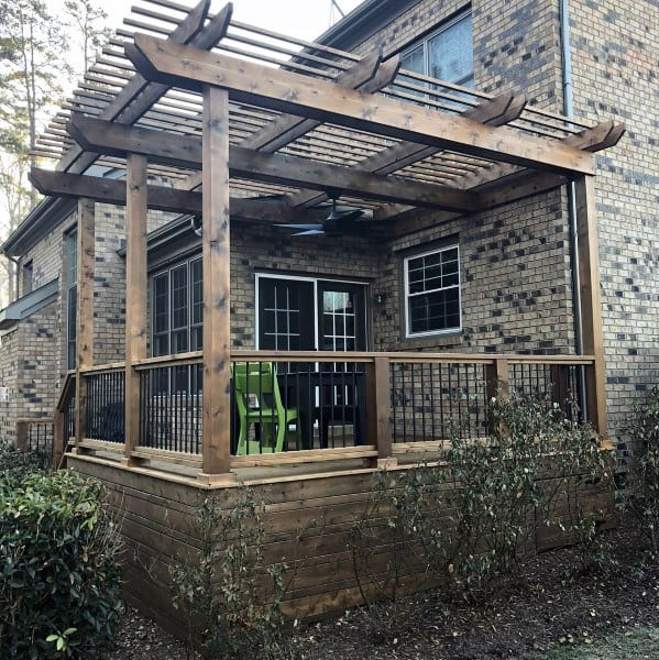 Covered Patio Wooden Pergola Ideas