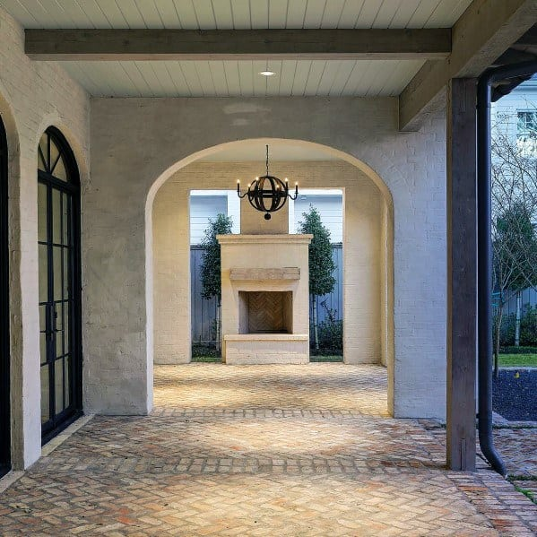 Covered Roof Ideas For Home Brick Patio