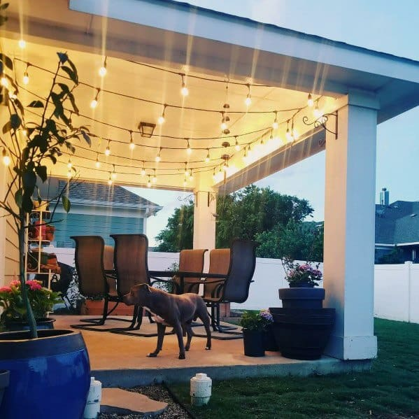 Covered Roof Ideas For Patio String Light