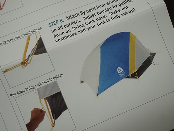 Covered Sierra Designs Sweet Suite 3 Tent With Rain Fly Stakes Guide