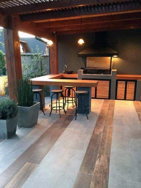 Covered Tin Roof Outdoor Bar Ideas
