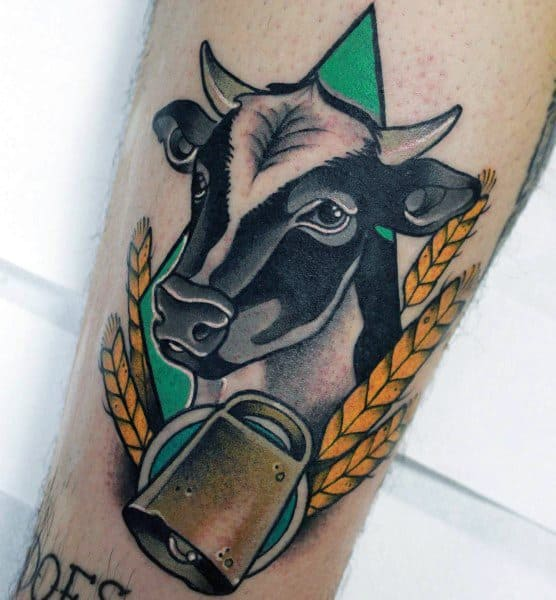 Cow Tattoo Designs For Gentlemen