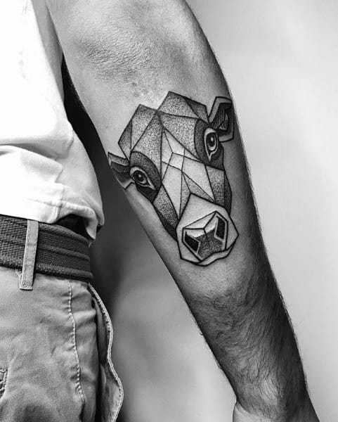 Cow Tattoos For Gentlemen