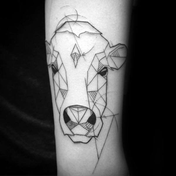 Cow Tattoos For Men
