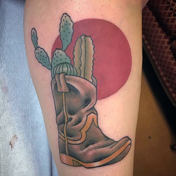 Cowboy Boot Guys Tattoo Designs