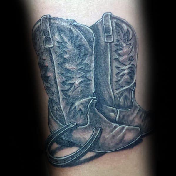 Cowboy Boot Tattoos For Gentlemen