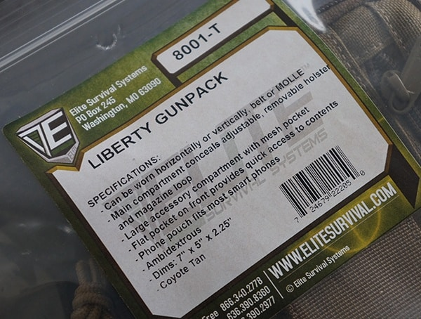 Coyote Brown Elite Survival Systems Libery Gun Pack Package