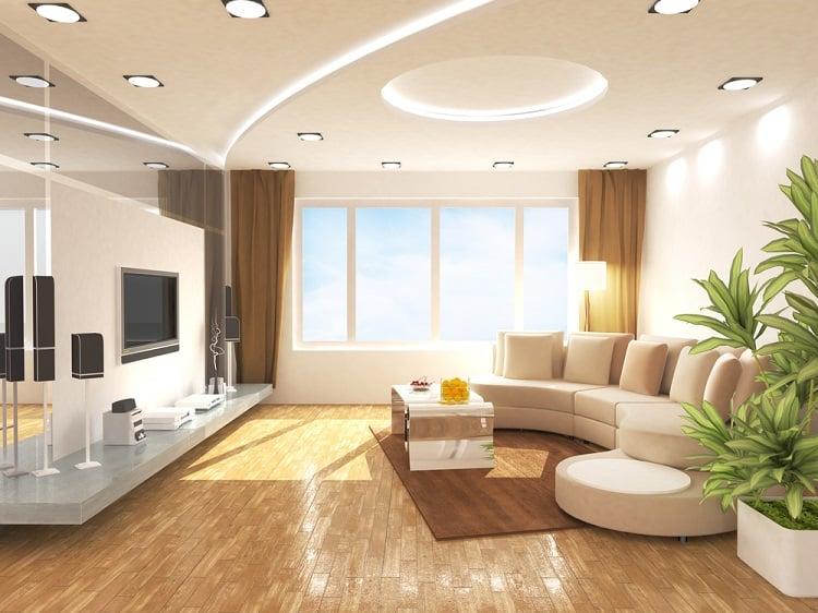 Cozy Bright Living Room Cove Lighting Ceiling Ideas