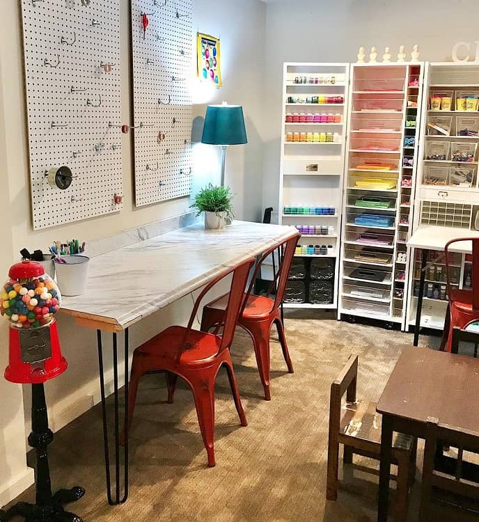 Cozy Colorful Craft Room