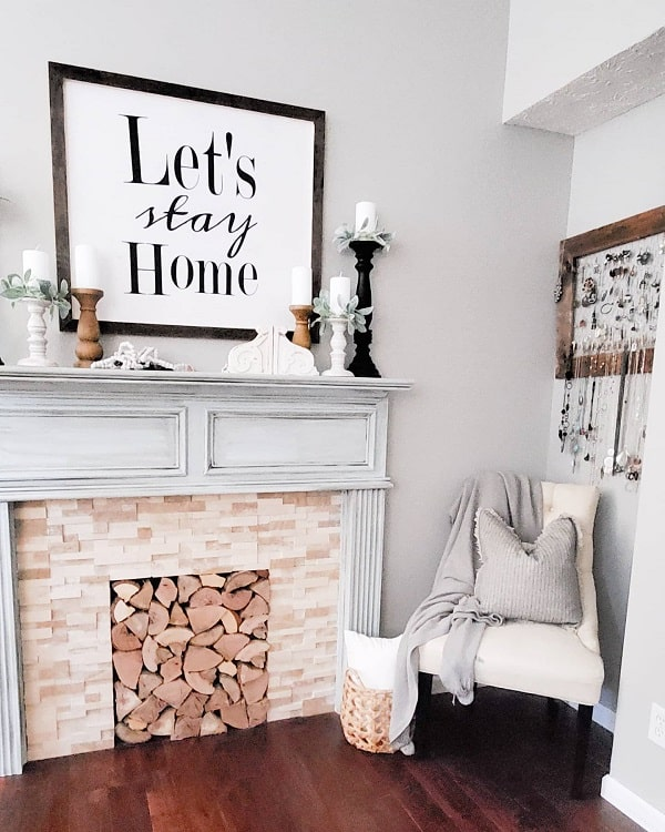 Cozy Faux Fireplace Surround Cammiscountry