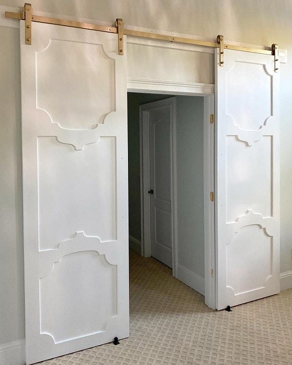 Cozy Home All White Barn Door