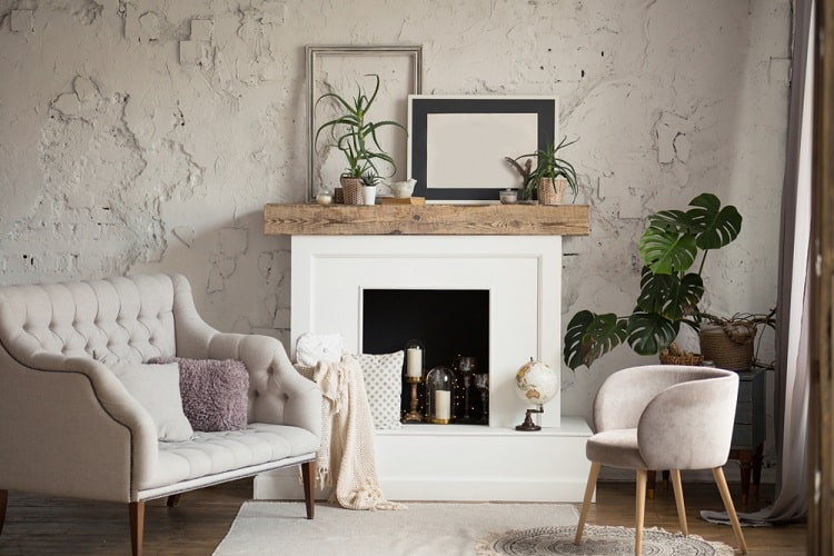 Classic White Interior Mantel Decor Ideas
