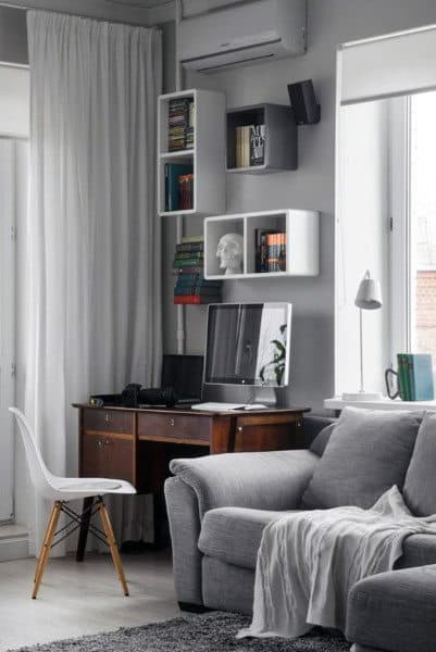 Cozy Small Home Office Ideas For Gentlemen