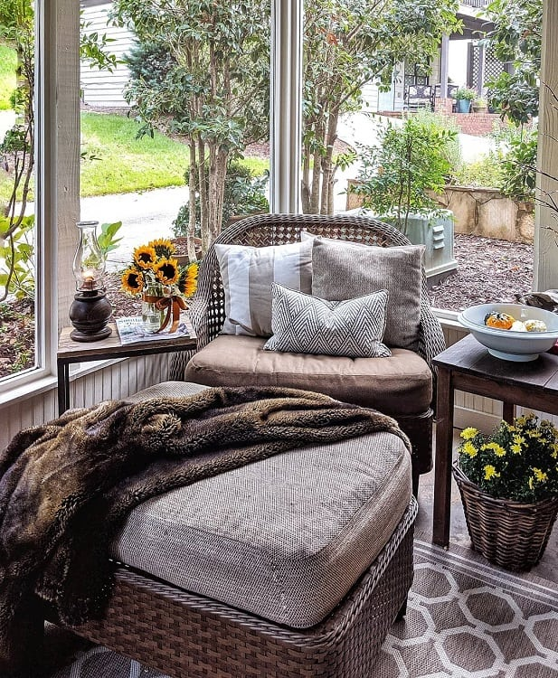 Cozy Sun Porch Screened In Porch Wellnestedhome