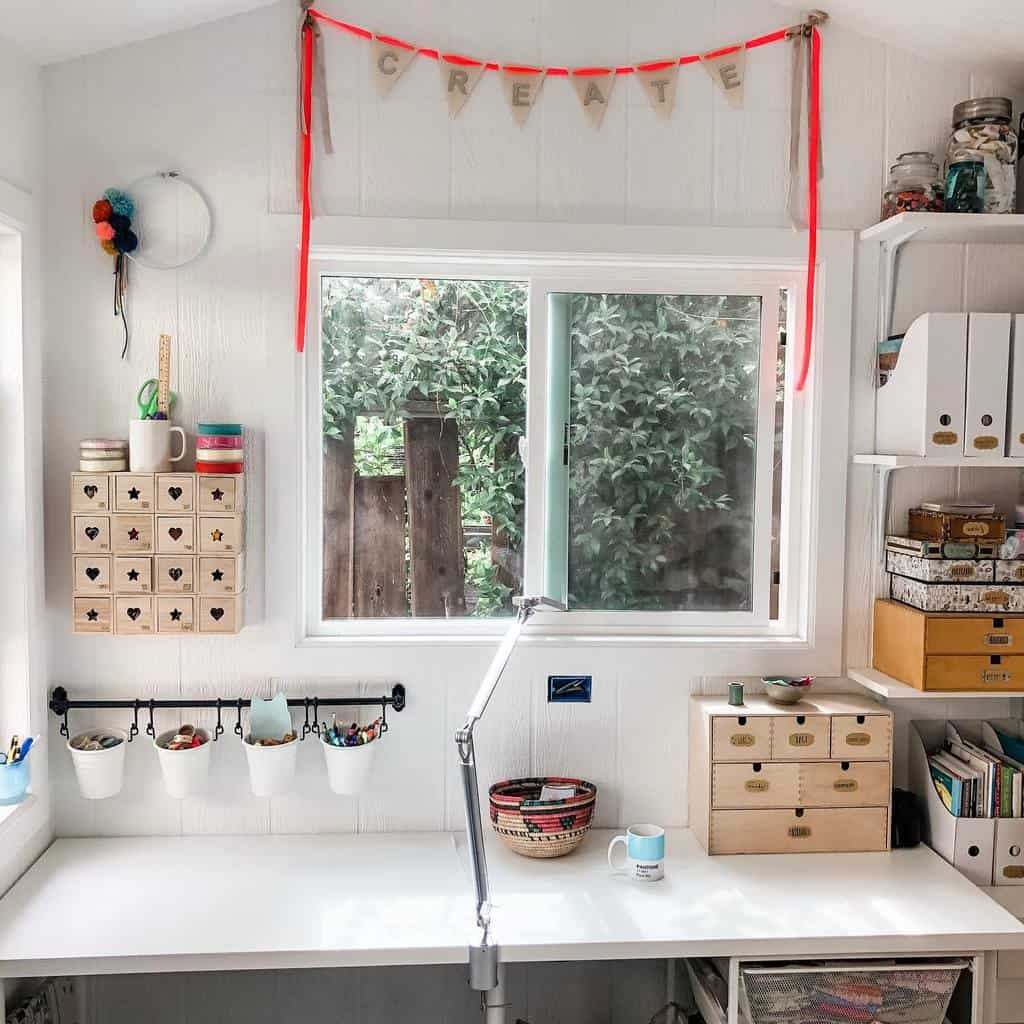 Craft Room She Shed Ideas Cre8tively.me