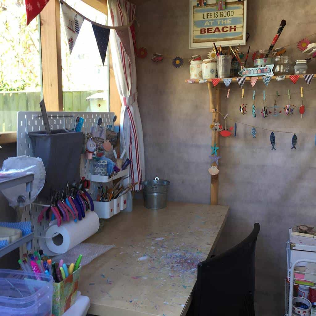 Craft Room She Shed Ideas Tibblesthebat