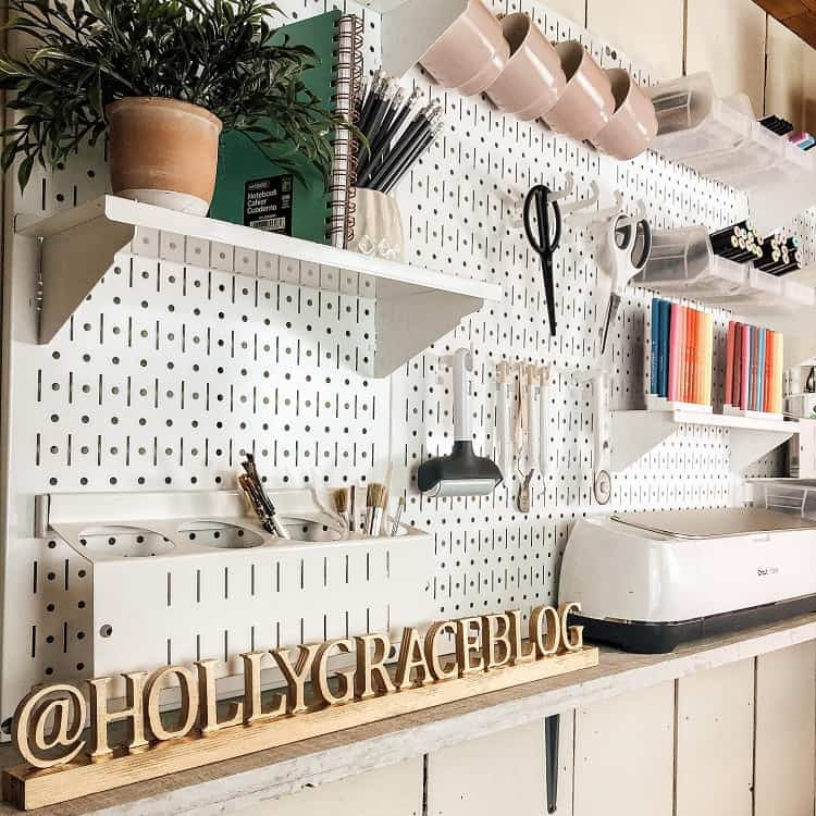 Craft Storage Art Room Pegboard Ideas Hollygraceblog