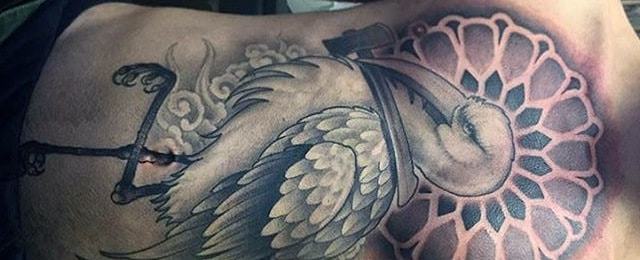 Crane Tattoo Designs For Men