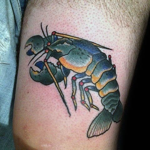 Crawfish Tattoo Designs For Guys On Chest